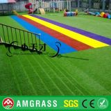 30mm 4 Tones Petに適するSynthetic Turf /Artificial Grass