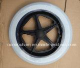 12-24 rueda sólida de la PU de la pulgada para el sillón de ruedas y el cochecito