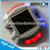 Alta vite prigioniera solare di alluminio luminosa visibile della strada di 6PCS LED con lampeggiante
