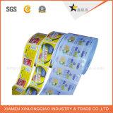 Etiqueta engomada de papel transparente de la impresión de la escritura de la etiqueta de los rectángulos del cartón de la etiqueta del sello del PVC