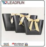 Druck-Papier-Einkaufen-Geschenk-Handfördernder überzogener Kunstdruckpapier-Träger-kosmetischer Schmucksache-Verpackungs-Beutel Brown-Kraftpapier (F60C)