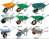 Carrinho de mão de roda plástico colorido de Metal& para a logística da construção