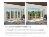 Alluminio bianco ricoprente di colore della polvere che fa scorrere portello di vetro piegante, portelli di piegatura di alluminio di legno solido