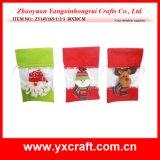 Decoración plástica del bolso del caramelo de la Navidad de la ventana de la decoración de la Navidad (ZY14Y165-1-2-3) PVC/Pet/PP