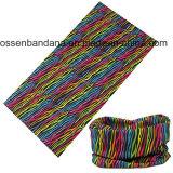 Le logo fait sur commande a estampé le cuir épais multifonctionnel promotionnel d'écharpe de Microfiber de polyester