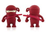 La personnalité créatrice de lecteur flash USB d'hommes masquée par dessin animé en gros de Ninja USB de dessin animé de silicones est disque imperméable à l'eau d'U sur place