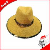 Sombrero de papel de Sun del sombrero de ala del sombrero de paja