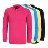 Polo-Hemd-Golf-Polo der langen Hülsen-Pikee Poloshirt Männer