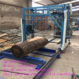 A corrente de madeira da grande gasolina do tamanho viu a máquina para a madeira da estaca