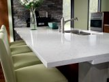 Calacatta White Engineered Artificial Marble Quartz Stone para Countertop