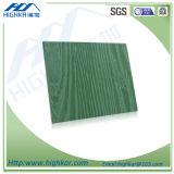 Scheda del cemento della fibra-- Raccordo di legno del reticolo del granulo di colore