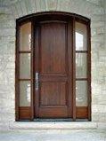 Porte en bois solide de bois de construction avec la qualité