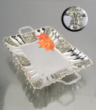 Het zilver Geplateerde Dienblad van de Rechthoek (DF15548DL-1F)