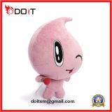 Brinquedo enchido boneca do luxuoso da gota da água da cor-de-rosa do logotipo do bordado