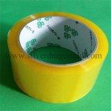 高い付着を用いる黄色がかったBOPPのパッキングテープ