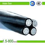 PVC isolé aérien de câbles et faisceau de cuivre isolé par XLPE d'alliage d'aluminium de faisceau