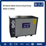 -ヒートポンプの給湯装置に水をまく25c冬の家庭暖房+Dhw 55cの熱湯10kw/15kw Evi Tech. -15cのグリコールのループ塩水の海水