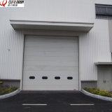 Раздвижные двери промышленного надземного подъема секционные