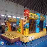 Castelo inflável do pirata do projeto da água dos Cocos para os miúdos LG9051