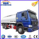 20000litres 6silos Fuel Steel Gasoling / Diesel 6 * 4 Truck Tanker pour Phillippines Market