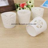 De uitgeholde Witte Houder van de Kaars van de Cilinder Ceramische (CC-07)