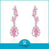 2015 최신 분홍색 로즈 925 순은 귀걸이 디자인 (E-0169)
