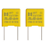Capacitor metalizado amarelo da película do Polypropylene de China