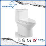 Toilette en céramique de cabinet monopièce de Siphonic de salle de bains (AT2007)
