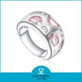 선물 (R-0477)를 위한 최신 판매 분홍색 925 순은 반지