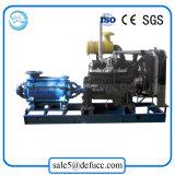 Pompe à eau à plusieurs étages montée par remorque de moteur diesel avec le matériel d'irrigation