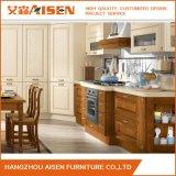 China personalizou o gabinete de cozinha da madeira contínua da mobília