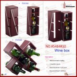 Plutônio Leather Functional Wine Rack de Fashinal (5484R10)