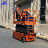 Levage électrique automoteur de ciseaux de plate-forme de fonctionnement de certificat de la CE