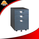 Cabina de almacenaje móvil de clasificación del cajón moderno del metal 3 de los muebles de oficinas