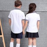 دوليّة بيضاء مدرسة [بولو شيرت] [سكهوول ونيفورم] قميص