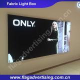 Fabricante de rectángulo ligero de aluminio de encargo de la tela LED de la visualización