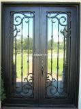 [لوو بريس] عينة تصميم [ورووغت يرون] جبهة ضعف زجاج باب