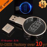 Rundes Kristall USB-Feder-Laufwerk