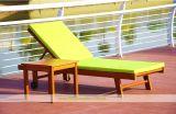 Presidenza arancione di legno solido del Poolside con la stuoia smontabile (WH-D692)