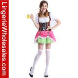 Halloween 호화로운 당 스위스 맥주 소녀는 Cosplay 복장 복장을 위로 끈으로 묶는다