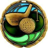 2017 Personalizado OEM / ODM Oro Golf Die Cast medalla