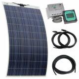 el panel solar flexible 250W para la caravana en día de fiesta
