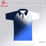 Healong 최신 판매 승화 100%년 폴리에스테 폴로 셔츠