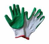 Gants en caoutchouc de sûreté de coton de qualité