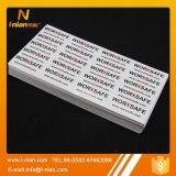 Etiqueta engomada impermeable del vinilo del PVC del artículo de la impresión de encargo