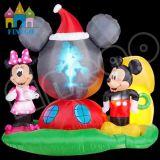 Aufblasbares Weihnachten Mickey Mouse mit Feuer für im Freiendekoration