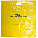 Bolsos de compras impresos HDPE amarillo (FLD-8624)