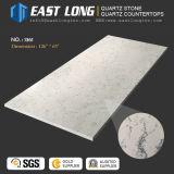Pierre artificielle de quartz de Calacatta pour la partie supérieure du comptoir de brame/la surface de solide de Whih matériau de construction