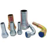 (10611) Montaggio di tubo flessibile idraulico maschio metrico del acciaio al carbonio dell'acciaio inossidabile