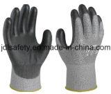 Анти--Отрежьте перчатку работы безопасности при покрынный PU (PD8024)
